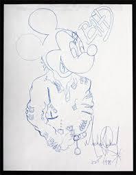 michael jackson original mickey mouse bad drawing julien u0027s