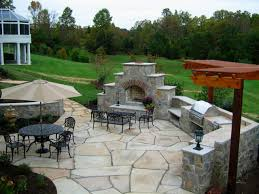 Fireplace Patio by Remarkable Landscape For Backyard Patio Ideas With Pale Brown