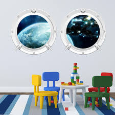 deep space spaceship porthole full colour wall sticker decal deep space spaceship porthole full colour wall sticker decal transfer mural 1 ebay