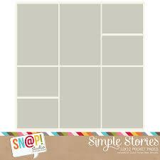 photo pocket pages 12x12 digital pocket page design 5 simple stories