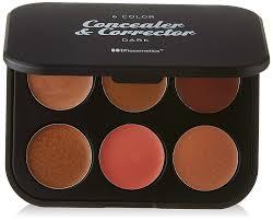 amazon com bh cosmetics 6 color concealer u0026 corrector palette