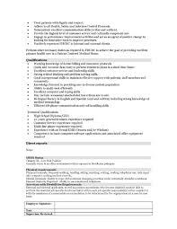Laser Nurse Cover Letter Mitocadorcoreano Resume For Patient Access Representative Paraprofessional Resume