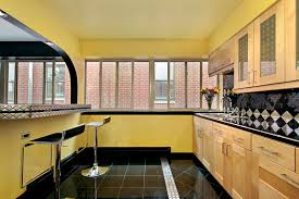 Kitchen Yellow Walls - kitchen with yellow walls royalty free stock photos image 10171038