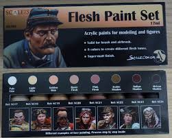 review flesh paint set by scale 75 magie miniature painting