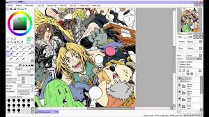 paint tool sai coloring tutorial part 1 base colours youtube