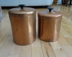 copper kitchen canisters copper canister etsy