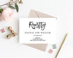 wedding registry templates wedding registry etsy