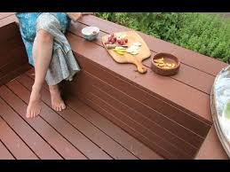 Wood Bench Plans Deck by How To Build A Diy Deck With Bench Seats Youtube