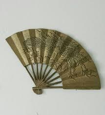 oriental fan wall hanging brass wall hanging asian wall decor brass wall decor chinese fan