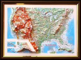 map usa framed usa 3d framed map