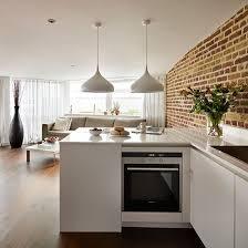 kitchens with brick walls white open plan kitchen with brick wall kitchen decorating white