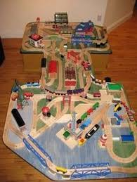 thomas train set wooden table recycled track platform diy project for wooden train layouts