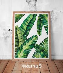 tropical leaf print tropical wall art colourful decor printable banana leaves banana leaf print palm wall decor tropical leaves leaf tropical print tropical wall art beach decor botanical print