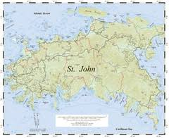 road map of st usvi u s islands maps mappery