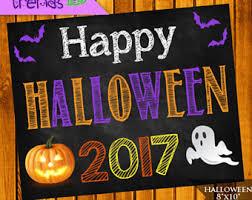 halloween chalkboard etsy