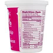 Nutrition Facts For Cottage Cheese by Friendship Dairies 1 Milkfat Low Fat Cottage Cheese Small Curd