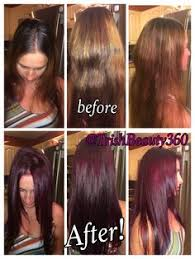 goldwell 5rr maxx haircolor pictures before and after with chi ionic 5rv redviolet haircolor
