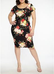print dress plus size soft knit floral print dress rainbow