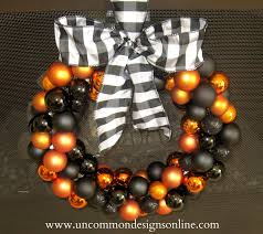 diy halloween ornament wreath uncommon designs