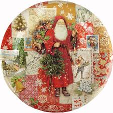christmas plates punch studio christmas paper plates 2 sizes