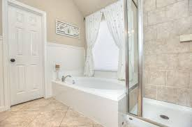 Wainscot Kit Traditional Full Bathroom With Drop In Bathtub U0026 Wainscoting In