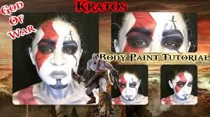 Kratos Halloween Costume God War Kratos Inspired Makeup U0026 Body Paint Tutorial