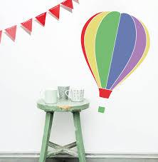 hot air balloon wall sticker by oakdene designs hot air balloon wall sticker