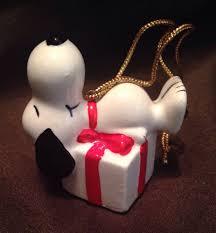 vintage 1958 ceramic snoopy christmas ornament peanuts ufs japan