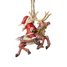 jim shore heartwood creek 4058816 santa reindeer ornament