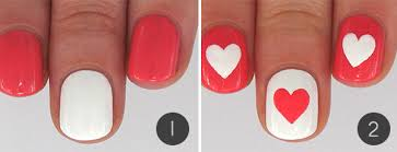 hearts and flowers valentine u0027s day nail art more com