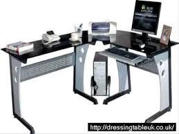 Piranha Corner Computer Desk Computer Desk In Black By Piranha