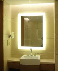 Bathroom Mirror Illuminated Makeup Mirror Wall Mounted Lighted Vanity With Backlit Stylish