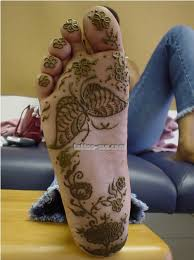 henna foot with butterfly vine and flowers tattoo me