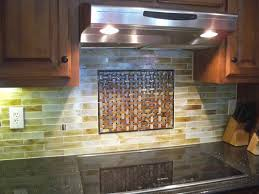 kitchen backsplash medallions stained glass mosaic tile kitchen backsplash with fused glass