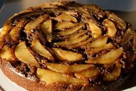 chocolate pear upsidedown cake recipe on food52