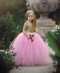 flower girl dress quite the princess pink birthday flower girl gown