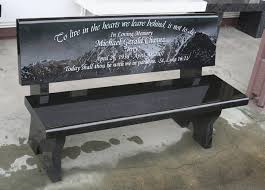 memorial benches granite memorial garden bench set at gail catholic church in
