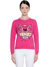 kenzo menu swindon kenzo tiger embroidered cotton sweatshirt