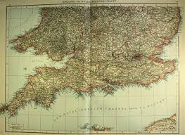Map Of Southern England by Map Of Southern England And Wales 1893