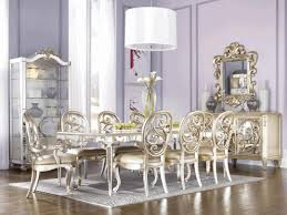 majestic shiny silver dining chair wall mounted mirror with royale