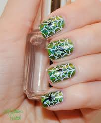 a little polish falling for nail art challenge creepy crawlers