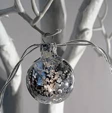 mercury glass string lights silver mercury glass string lights battery operated 10 lights