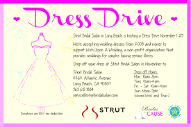 wedding dress donation los angeles wedding dress donation drive strut bridal salon