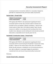 business assessment report template sle risk assessment report 6 documents in word pdf