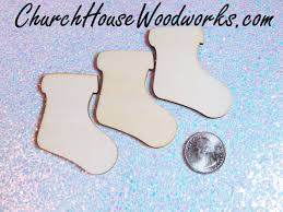 wooden stockings christmas ornaments set of 25 for sale church