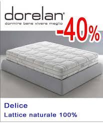 dorelan materasso materasso dorelan matrimoniale in lattice naturale prezzo offerta