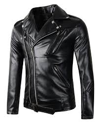 brown leather motorcycle jacket mens leather and faux leather jackets amazon com