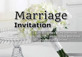 marriage invitation for friends wedding marriage invitation sms to invite friends