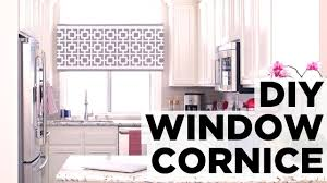 How To Make Window Cornice How To Make A Window Cornice Box Hgtv Youtube