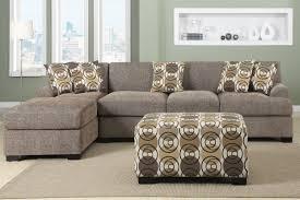 amazon com 3 pieces faux linen sectional sofa with ottoman slate